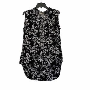 Soft Surroundings Sleeveless Floral Blouse Top M